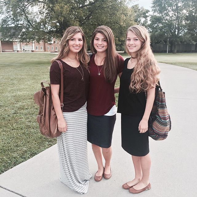 First day of classes at Crown College! #Carlin #Tori #Josie