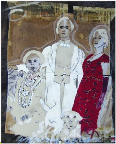 Walter Davanzo, Famiglia, tecnica mista su tela, 80x100cm - 2011