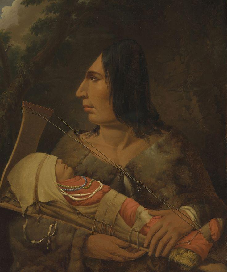 Cow Wacham, Donna con la Testa Piatta e Figlio. Il ritratto, eseguito in studio, mostra l'abitudine dei popoli sulla costa nordoccidentale di appiattire la testa delle persone, ponendo i bambini in cullemunite di una apposita appendice di legno che comprimeva costantemente la sua fronte, modellando le ossa del cranio. L'autore si avvalxe di due distinti schizzi per creare il quadro, un bambino dei CHinookan del Cowlitz River nello Washington (Skillot) e una donna songhees di Vancouver…