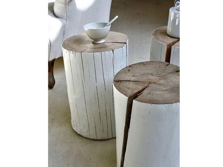 Qui ti spieghiamo come creare tavolini e sedute con un ciocco di legno. E nella gallery trovi quelli già belli e pronti