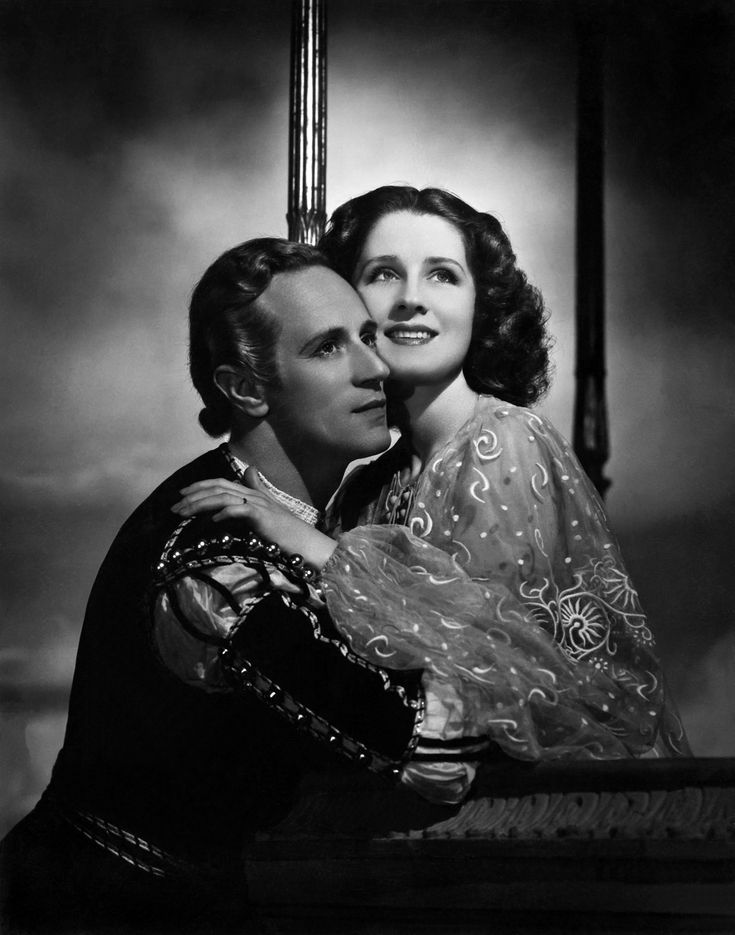 Norma Shearer with Leslie Howard - Photo by George Hurrell from Romeo and Juliet (1936)