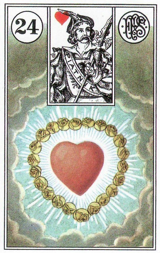 Heart, from the Piatnik Lenormand. https://lifeofhimm.wordpress.com/2015/09/07/weekly-lenormand-outlook-september-7-13-2015/