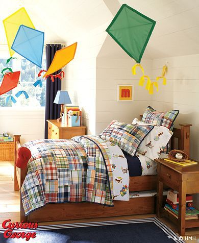 I love this for the boys' shared room. Especially since Brody loves Curious George and the quilt is so versatile that we can use different sheets for Case's bunk.