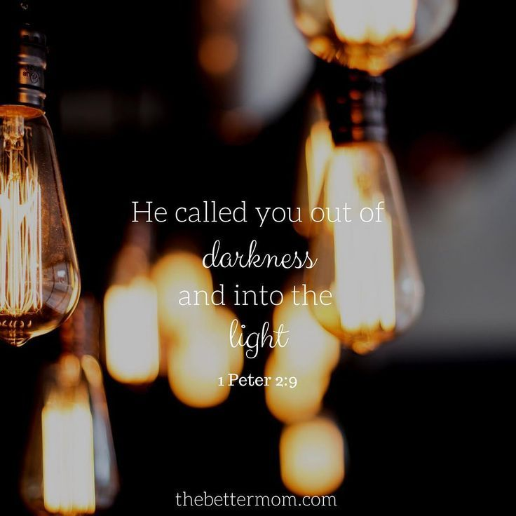 He called you out of darkness and into the light. -1 Peter 2:9 #bibleverse #truth #intothelight