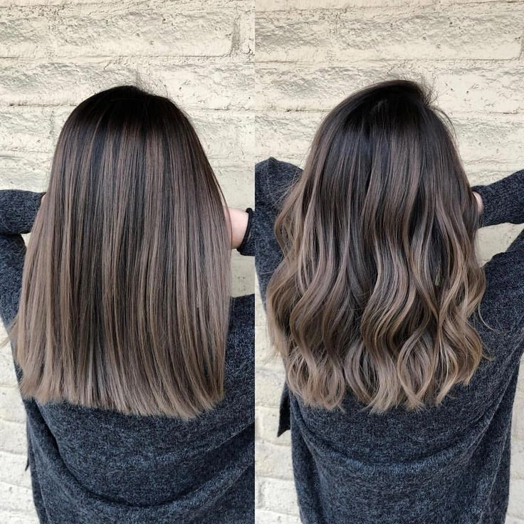 Ash brunette Wavy VS Straight Hair texture: medium to coarse Natural level: 2 Te …