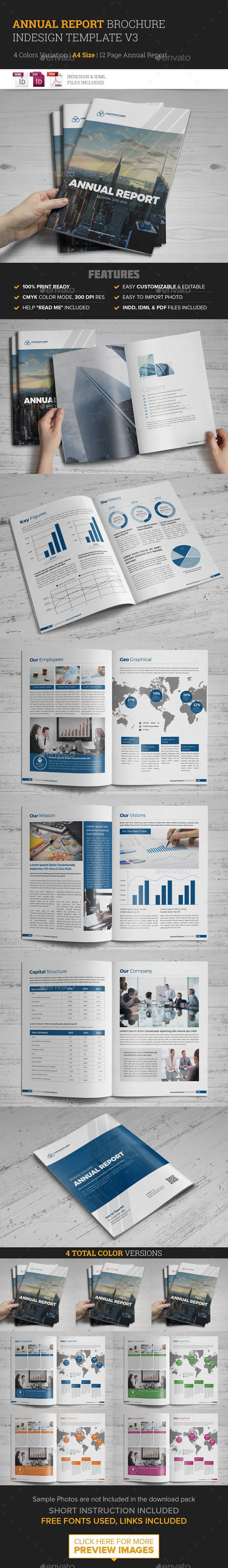 Annual Report Brochure Indesign Template #design #print Download: http://graphicriver.net/item/annual-report-brochure-indesign-template-3/11985869?ref=ksioks