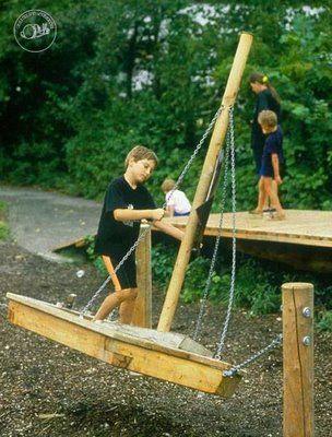 Playground boat designed by Richter Spielgerate