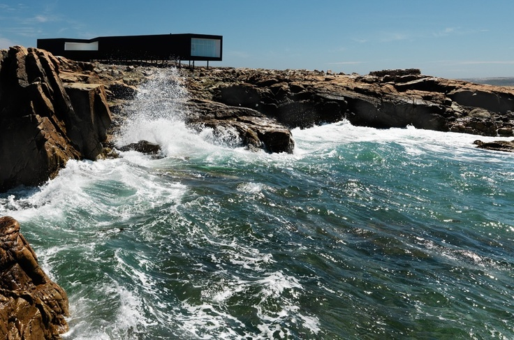 The Long Studio by Saunders Architecture. Part of their designs of artist studios on Fogo Island, Newfoundland.