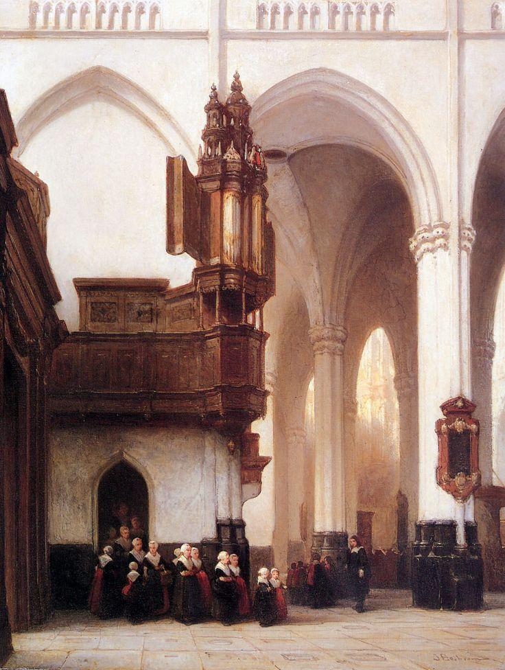Das Innere der Nieuwe Kerk in Amsterdam (Johannes Bosboom, 1850, Neue Pinakothek, München)