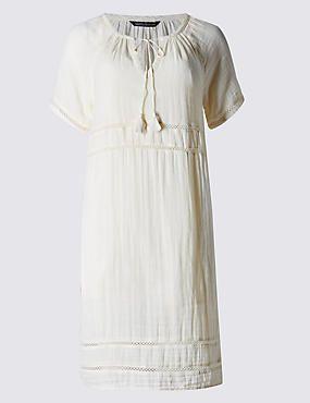Pure Cotton Loose Fit Tunic Shift Dress