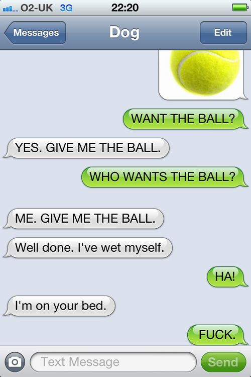 Laugh out loud! Texts from my dog.