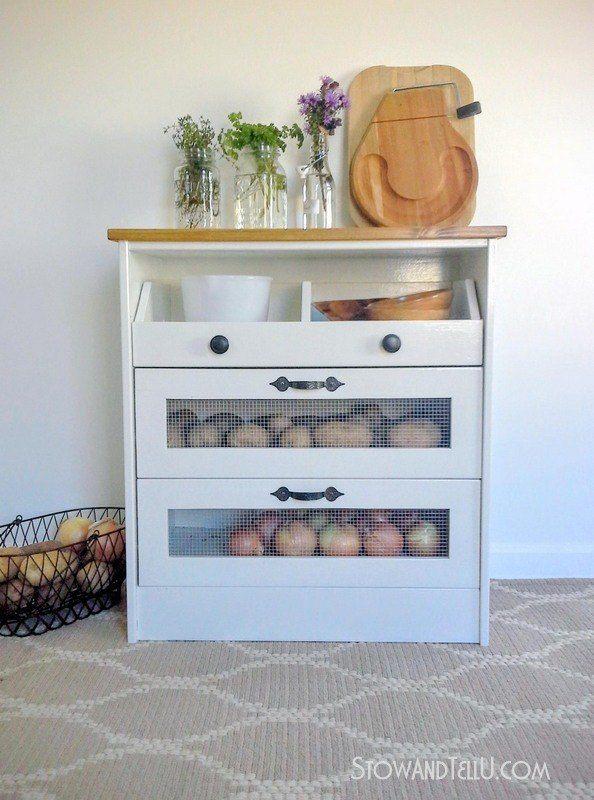 Potato Bin IKEA Hack