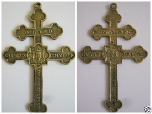 RARE Holy Face Cross Of Lorraine Tours France 1885 EBay
