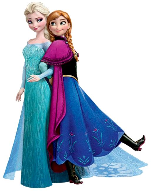 Frozen: Imágenes de Ana y Elsa. Clip Art. | Ideas y material gratis para fiestas y celebraciones Oh My Fiesta!