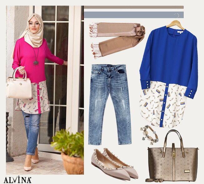 Haftasonu Kombini' Trend desenlerin rahat kesimlerle birleşmesi.. #alvina #alvinamoda #alvinafashion #alvinaforever #hijab #hijabstyle #tesettür #fashion #stylish #newcollection #haftasonu #kombini #trend #havalı #bambaşka #alvinakadını