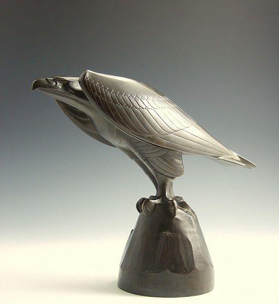 Chris van der Hoef (Dutch, 1875 - 1933): -an eagle on a rock- | Proportio Divina