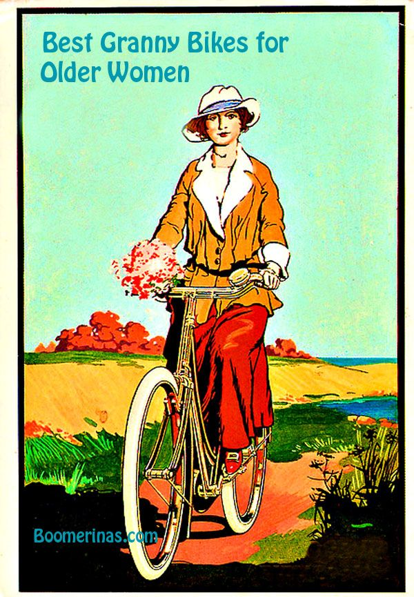Best Cruiser Bikes for Older Women (This altered illustration is in CREATIVE COMMONS due to age & publishing date) - READ ARTICLE at http://boomerinas.com/2012/09/best-cruiser-bikes-for-older-women-baby-boomers/