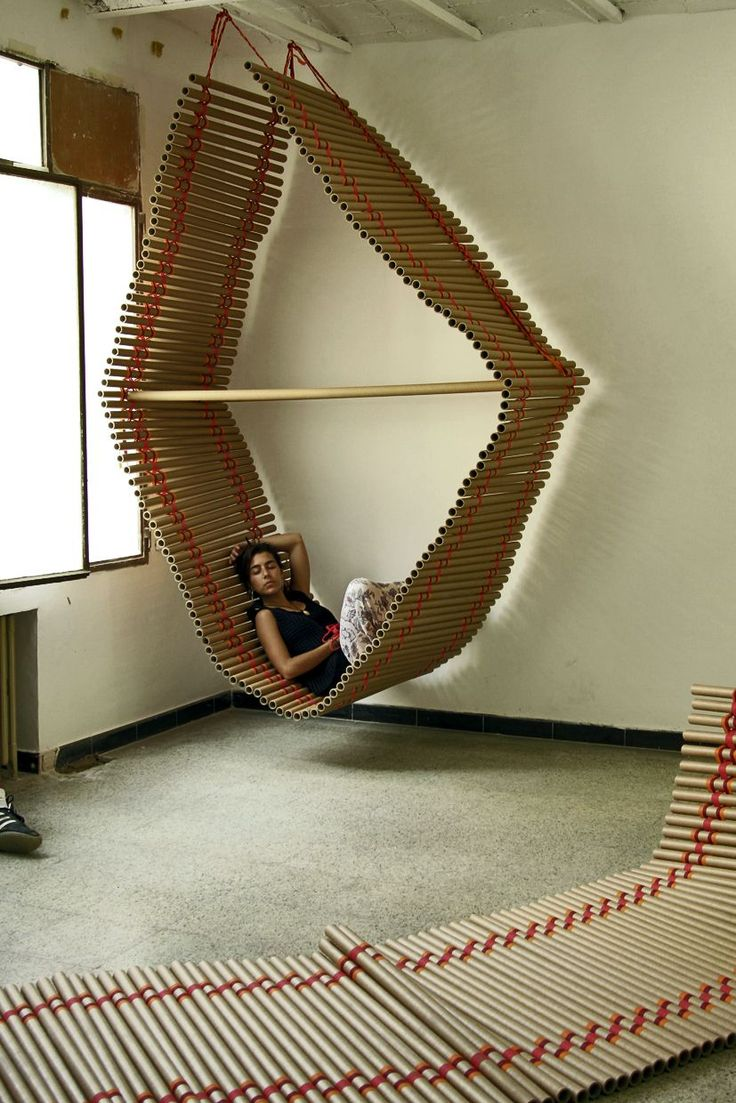 Comfortable cardboard chair designs - Usefull Spaces Created Out Of Cardboard Last Event From Transfo Design