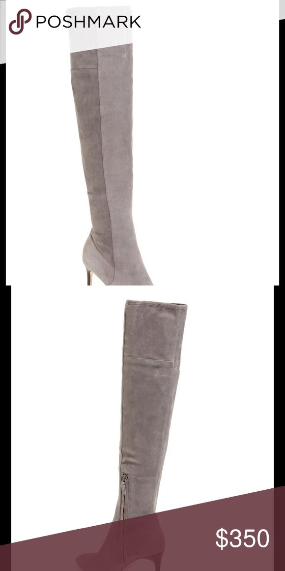 Cole Haan marina OTK boots 5.5 grey suede Near perfect condition ; worn once indoors! Cole Haan Shoes Over the Knee Boots