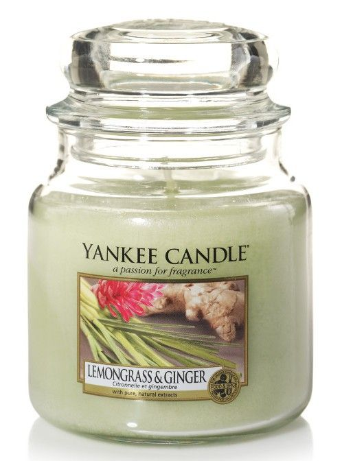 Citronelle et gingembre - Bougie moyenne jarre - Yankee Candle boutique