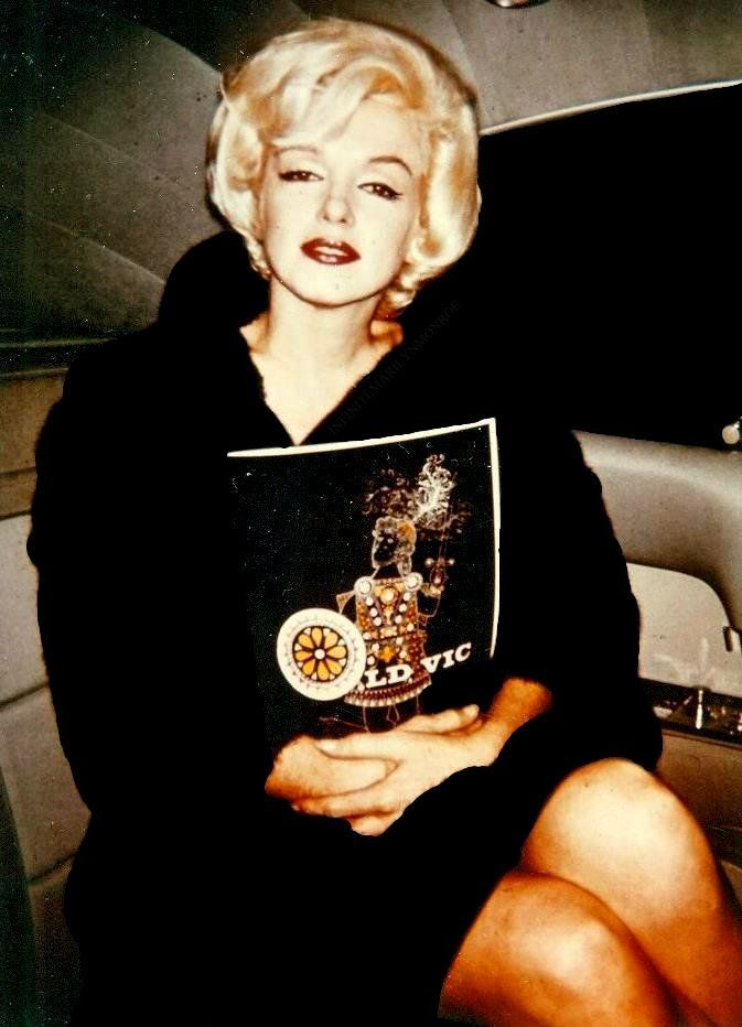 """Marilyn Monroe after a showing of Macbeth, 1962. """