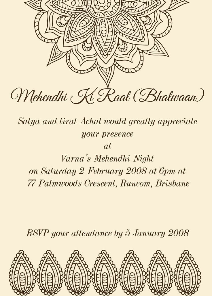 Mehndi Ceremony Quotes On Cards : Images about mehndi invitations wording samples