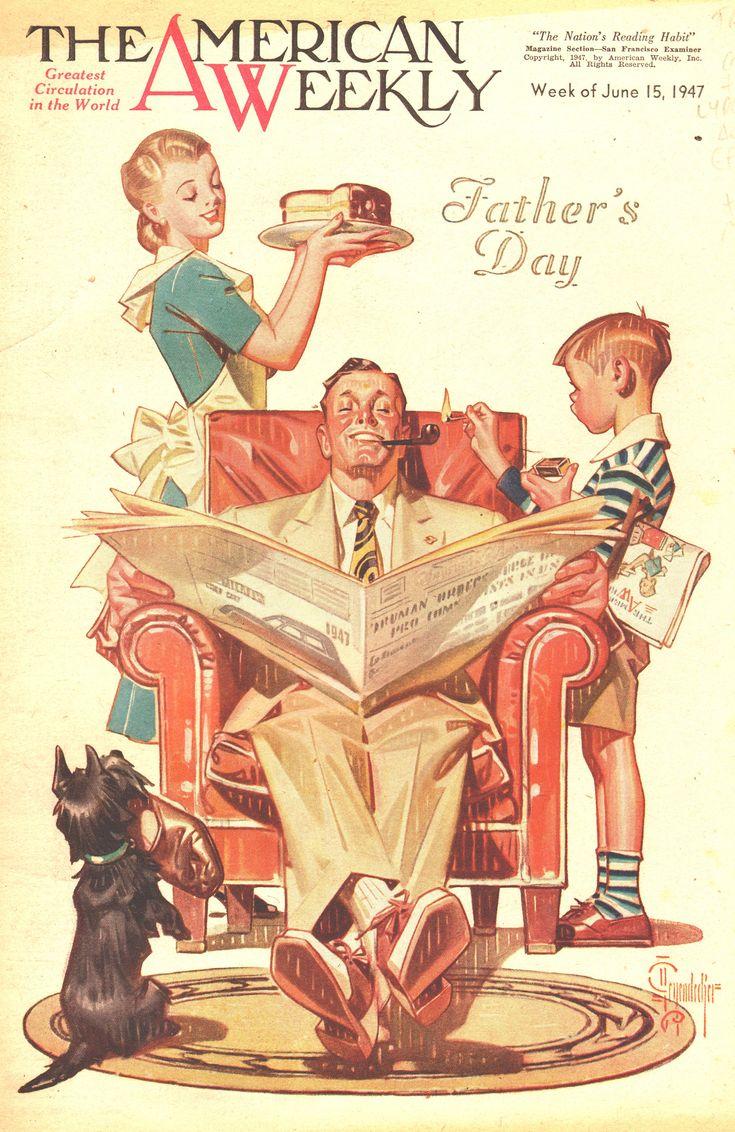 J. C. Leyendecker - The American Weekly Magazine cover (June 15, 1947)...