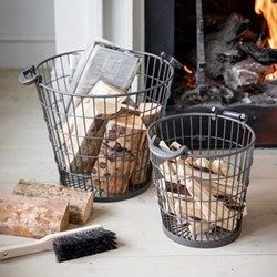 Pair of fireside baskets small & large Gifts for guys!  Start building your gift list https://www.weddingshop.com Weddings | wedding ideas | wedding gift | wedding gifts for bride and groom | wedding gift ideas | wedding gift for couple | wedding presents | unique wedding gifts | wedding present ideas | wedding presents for couples | wedding gift list | bride | groom | wedding planning | inspiration | gift idea | gifts for men | gifts for guys | men gifts | guy gifts | groom gifts