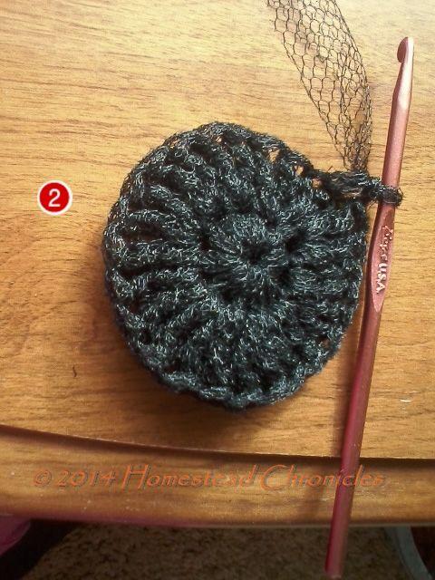 Crocheted dish scubbies