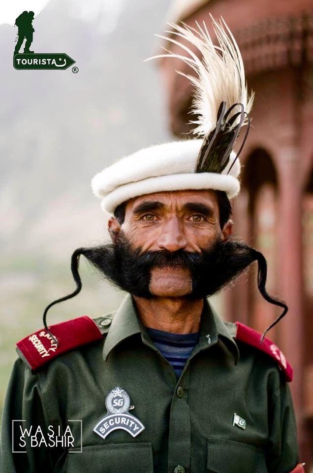 Security guard at Baltit Fort at Hunza in the Karakoram Mountains - Northern Pakistan