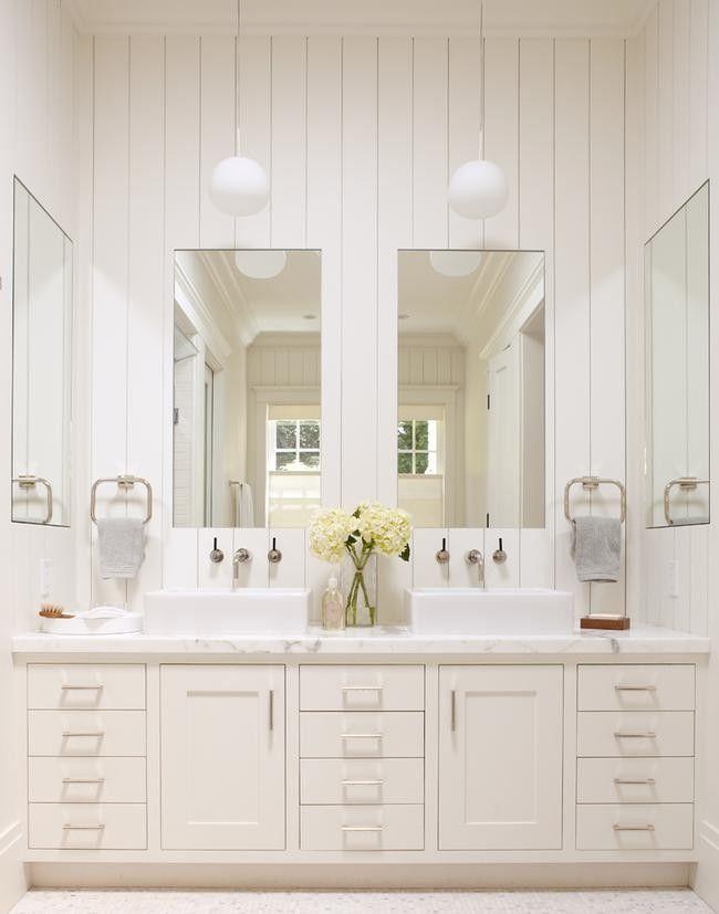 Stunning all white bathroom