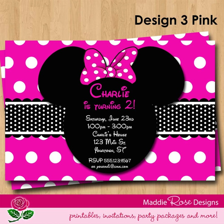 Minnie Mouse Invitation Printable, Red or Pink Birthday Party You-Print Custom Personalized Digital Photo Card Invites 4x6 or 5x7. $7.50 USD, via Etsy.Invitations Printables, Birthday Parties, Mouse Invitations, Minnie Mouse, 2Nd Bday, Parties Ideas, 2Nd Birthday, Pink Birthday, Birthday Ideas