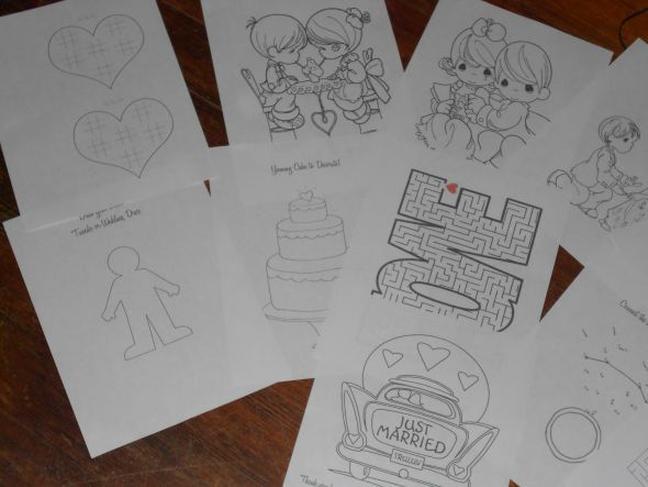 Activity Book For The Kiddos At Weddingand It Is All Wedding