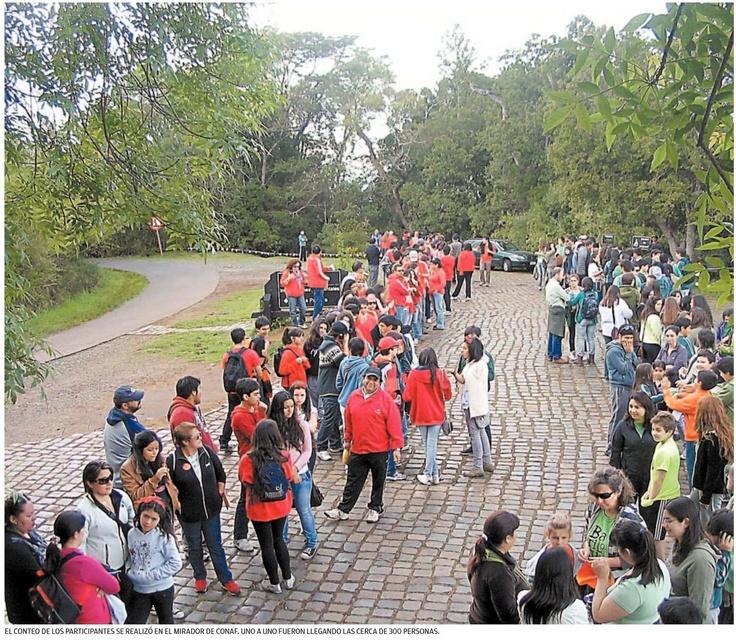 Colegio Scole Creare Caminata Cerro Ñielol