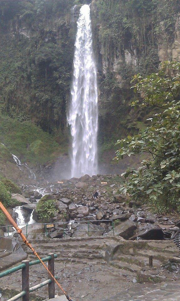 Waterfall ''Grojogan sewu'' Tawangmangu - Solo Central Java - Indonesia.