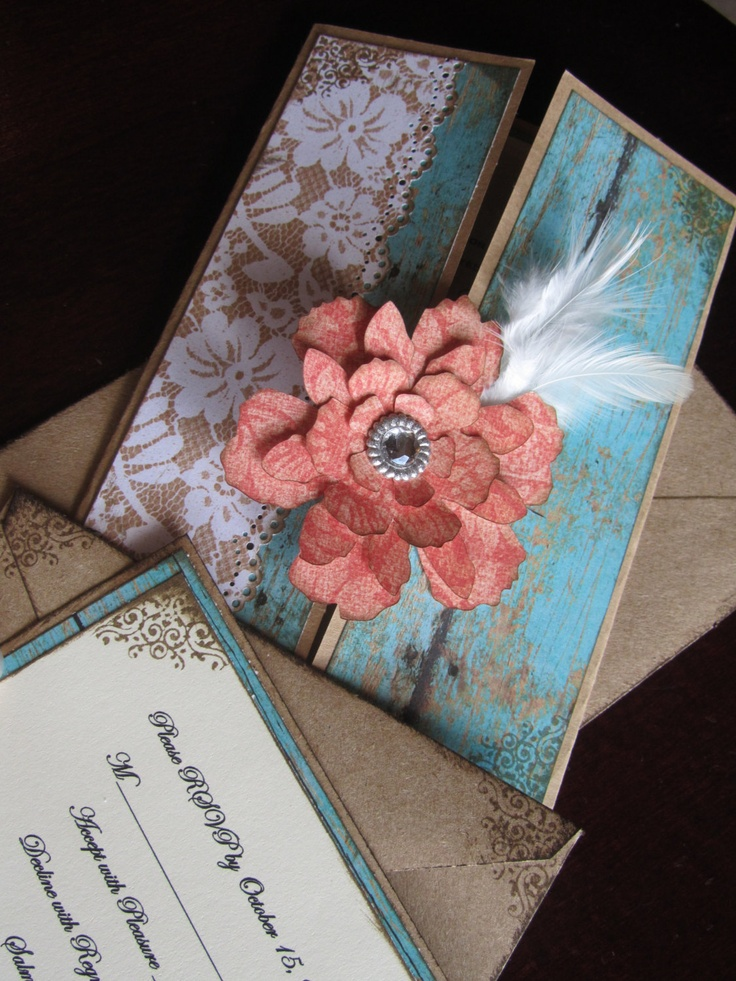 Shabby Chic Wedding Invitation by JennyPie5 on Etsy, $6.25
