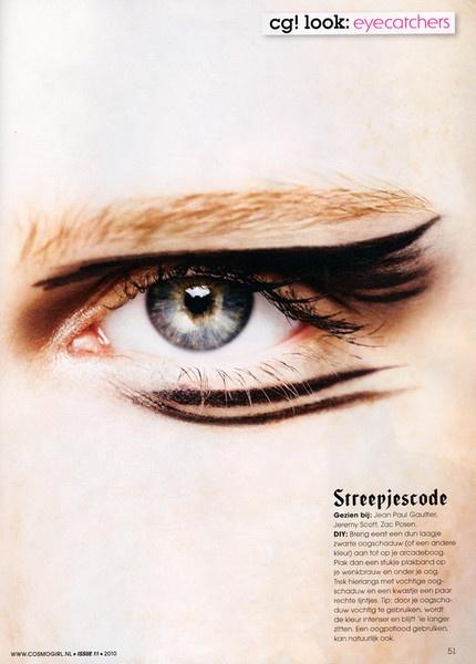 Loren Kemp by Richard Bakker for Cosmogirl #makeup #eyeliner