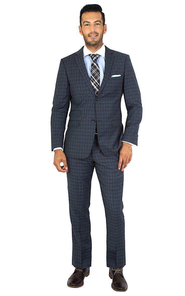 Bergamo Suit Separate Blue Slim Fit Suit - Men's Suit Store | Bachrach