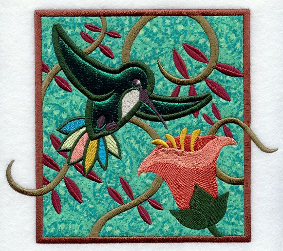 Tropical Hummingbird (Applique)