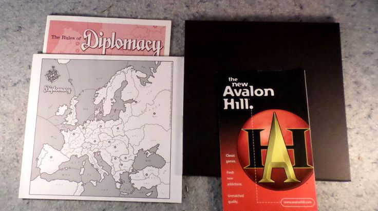 Avalon Hill Diplomacy Game Parts/Instruction Book, Board, and Pad (C6B5) #AvalonHill