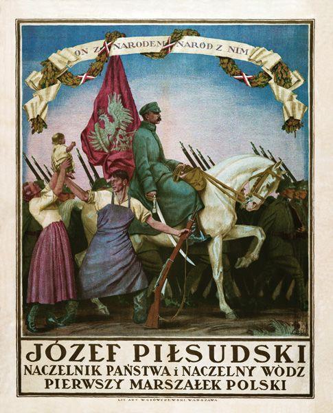 Józef Piłsudski piękny plakat NIEPODLEGŁOŚĆ 1918 (5074634293) - Allegro.pl - Więcej niż aukcje.