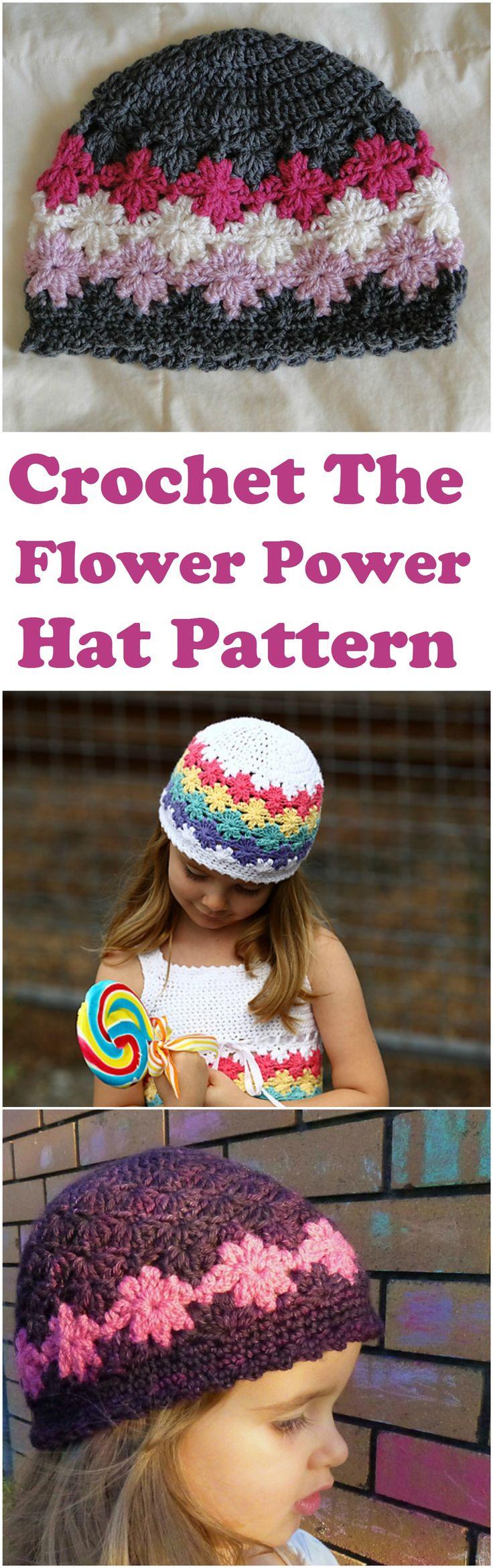Crochet Flower Power Hat