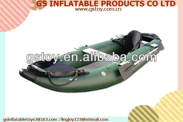 PVC single inflateable fishing kayaks for sale EN71 approved $35~$150