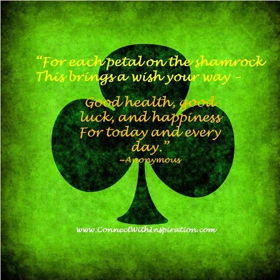 Good Luck Prayer Quotes: 11 Best Images About St Patrick's Day Inspirational On