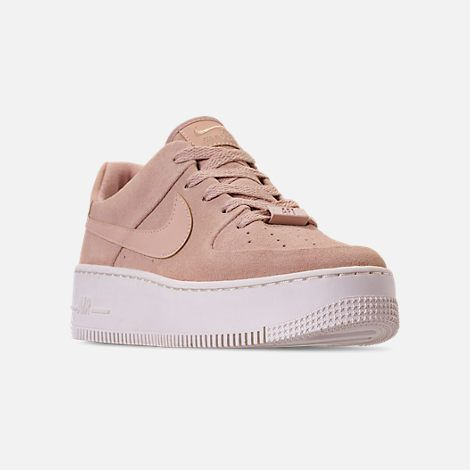 1a377da0936 Three Quarter view of Women s Nike AF1 Sage XX Low Casual Shoes in Particle  Beige Phantom