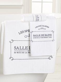 Les serviettes imprimées logo Les spécialistes salle de bains | Simons
