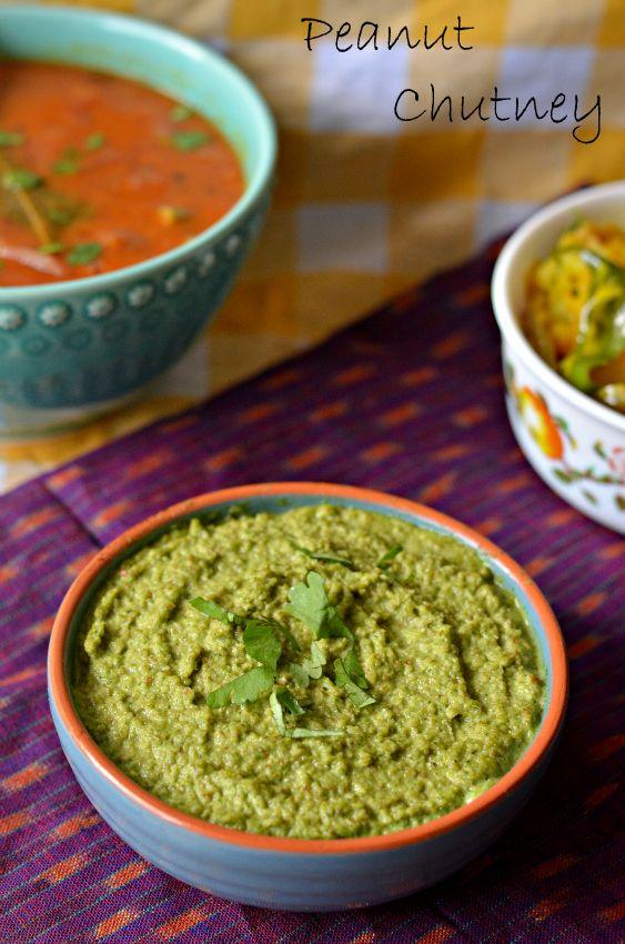 No Oil Peanut Coriander Chutney – The Veggie Indian