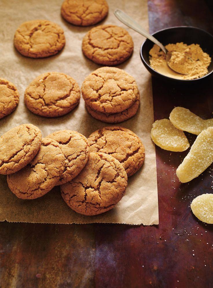 Recette de Ricardo de biscuits double gingembre bons-pas nécessaire de rouler dans le sucre...
