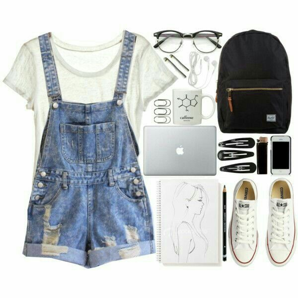 Cute lazy and edgy outfits for school