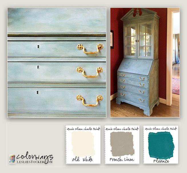 Chalk Painted Secretary | Colorways with Leslie Stocker
